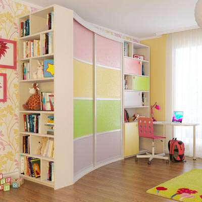 Дизайн шкафов купе в детской