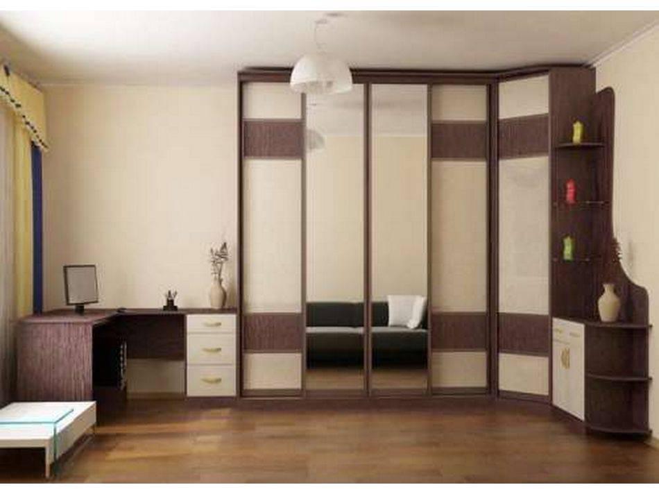 Угловой шкаф для гостиной