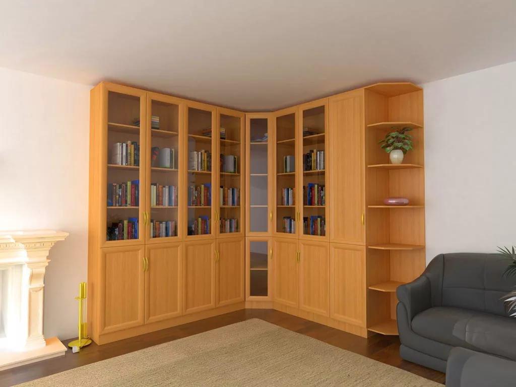 Книжные шкафы мдф для домашней библиотеки.