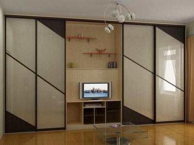 Стенка для гостиной со шкафом для одежды