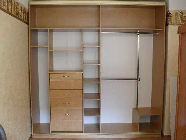 Наполнение шкафа-купе в спальню