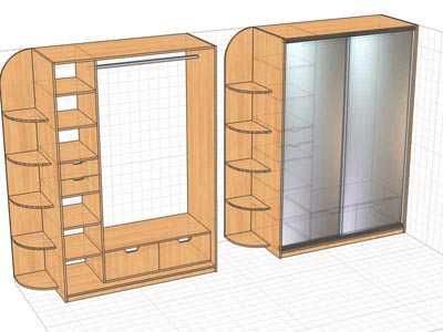 Встроенный шкаф-купе в прихожую